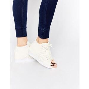 adidas Originals - Superstar Up Metal - Sneakers mit Wildleder in gebrochenem Weiß - Gebrochenes Weiß