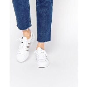 adidas Originals - Superstar - Sneakers in Weiß und Silber - Weiß