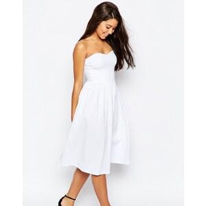 ASOS - Robe d'été bandeau mi-longue - Blanc