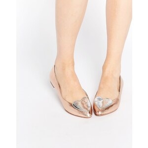 ASOS - LONG TIME - Flache Ballerina mit spitzer Zehenpartie - Beige