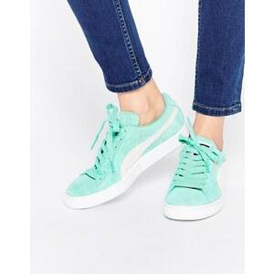 Puma - Baskets en daim - Vert menthe - Vert