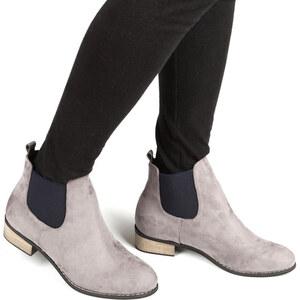 Lesara Chelsea boots en daim