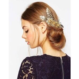ASOS - Haarkamm mit Blumen-Weinrebendesign - Gold