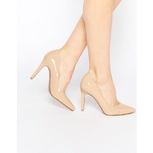 Head over Heels By Dune - Addyson - Escarpins vernis à talons - Nude - Beige