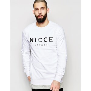 Nicce London - Sweatshirt mit Logo - Weiß
