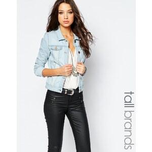 Noisy May Tall - Veste en jean à délavage clair - Bleu