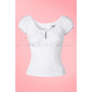 Bunny 50s Melissa Top in White