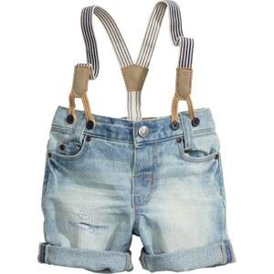 H&M Short en jean à bretelles
