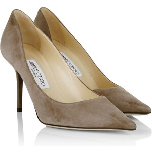 Jimmy Choo Escarpins, Agnes Suede Pointed Pumps Mink en gris
