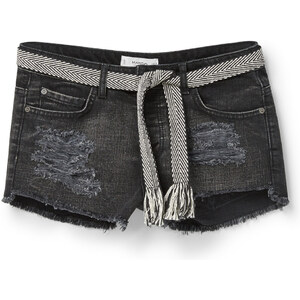 MANGO Schwarze Jeansshorts
