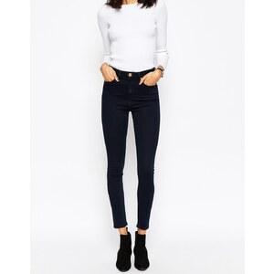 ASOS - Ridley - Enge Jeans mit hoher Taille in verwaschenem Petunia-Blau - Petunia/Indigo