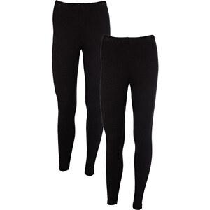 BODYFLIRT Lot de 2 leggings noir femme - bonprix