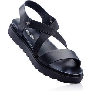 RAINBOW Sandales noir avec 4 cm plateauchaussures & accessoires - bonprix
