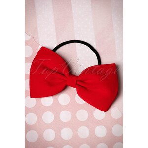 Dancing Days by Banned 50s Lovestruck Bow Hair Band in Red