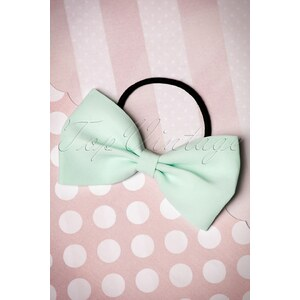Dancing Days by Banned 50s Lovestruck Bow Hair Band in Mint