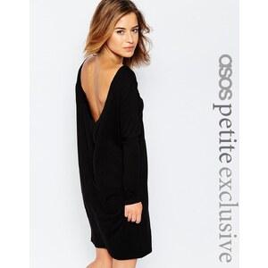 ASOS PETITE - Robe simple dos bénitier - Noir