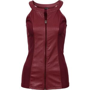BODYFLIRT boutique Top synthétique imitation cuir rouge femme - bonprix