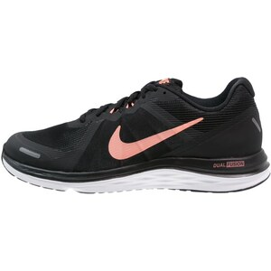 Nike Performance DUAL FUSION X 2 Laufschuh Neutral black/atomic pink/white
