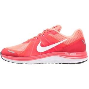 Nike Performance DUAL FUSION X 2 Laufschuh Neutral bright crimson/white/atomic pink/white