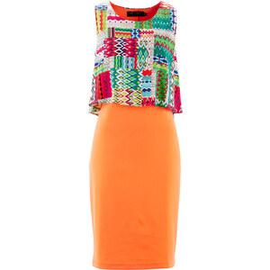 bpc selection Kleid ohne Ärmel in orange (Rundhals) von bonprix