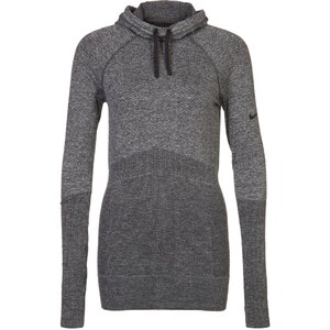Nike Performance PRO SEAMLESS HYPERWARM Langarmshirt black heather