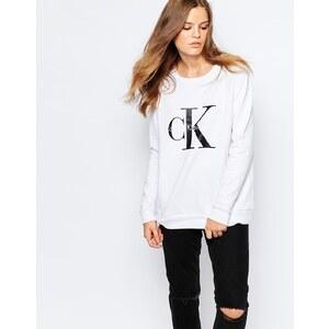 Calvin Klein Jeans - Sweat griffé - Blanc