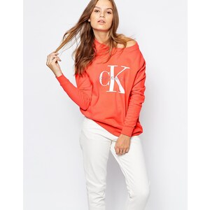 Calvin Klein Jeans - Sweat griffé - Orange
