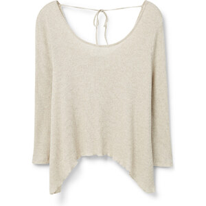 MANGO Geripptes T-Shirt Aus Baumwolle