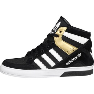 adidas Originals Damen Hard Court Block Hi-s Gold Sneakers Schwarz