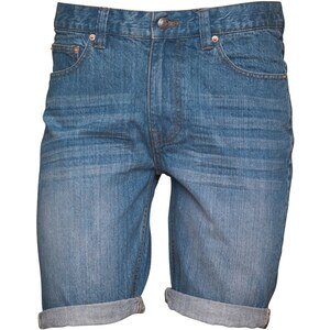 Bellfield Herren Denim Shorts Mittelblau