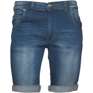 Crosshatch Herren Neverlay Bolt Stretch Mid Denim Shorts Blau