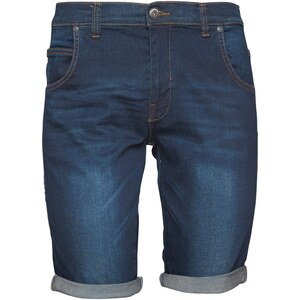 Crosshatch Herren Neverlay Bolt Stretch wash Denim Shorts Dunkelblau