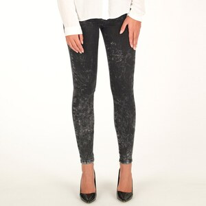 Only Damen Skinny Jeans Schwarz
