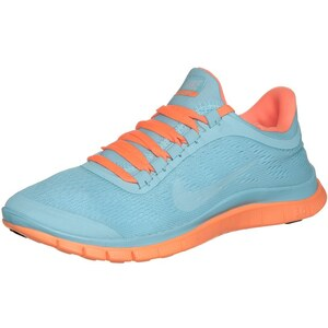 Nike Performance FREE 3.0 V5 Laufschuh Leichtigkeit glacier ice/summit white/atomic orange