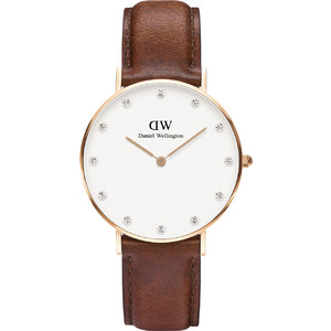 Daniel Wellington Montre Classy St Mawes 34 mm / MARRON FONCE