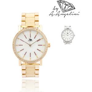 Montre avec bracelet texturé et strass A.Angelini