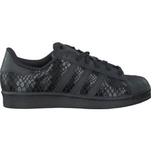 Schwarze Adidas Sneaker SUPERSTAR W