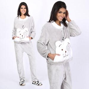 Lesara Pyjama mit Teddy-Motiv - L
