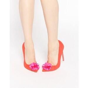 ASOS - PLAYER - Chaussures pointues à talons hauts - Rouge