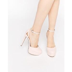 ASOS - POUT - Chaussures à semelle plateforme - Rose