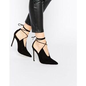 ASOS - PROPELLOR - Chaussures pointues à talons et lacets - Noir