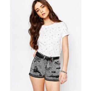 Pull&Bear - T-Shirt mit durchgehendem Symboldruck - Weiß