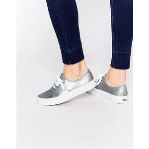 Vans Authentic - Decon - Sneakers aus silbernem Leder - Grau