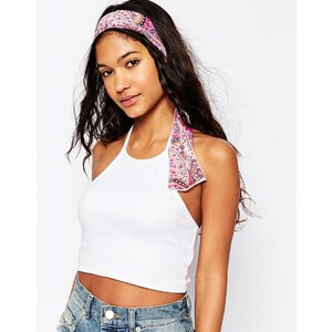 ASOS - Festival-Haarband mit Paisleymuster - Rosa