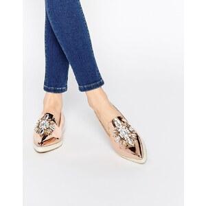 ASOS - METAPHOR - Chaussures plates ornementées - Cuivre