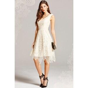 Little Mistress 50s Vera Lace Prom Dress in Cream