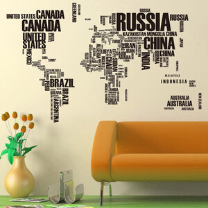 Lesara Wandtattoo Weltkarte