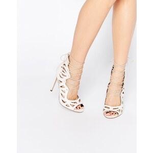 ASOS - PASTIME - Chaussures à talons et lacets - Rose