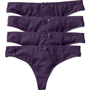 bpc bonprix collection Lot de 4 strings Micro Touch violet lingerie - bonprix