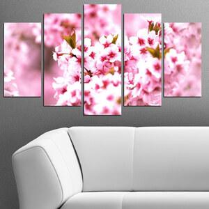 Lesara 5-teiliges Wandbild Blüten